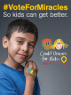 #VoteforMiracles Nov. 27 – Dec. 18 and Sanford Children's Hospital in Fargo could win $50k from Credit Unions for Kids!